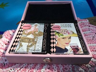 Archives Coca-Cola Playing Cards 2 Fashion Women Decks in Pink Collector's Case