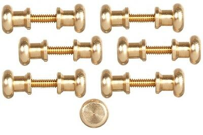 Dollhouse Miniature 1:12 Scale Door Knobs, Threaded - 6 pairs #S3106D