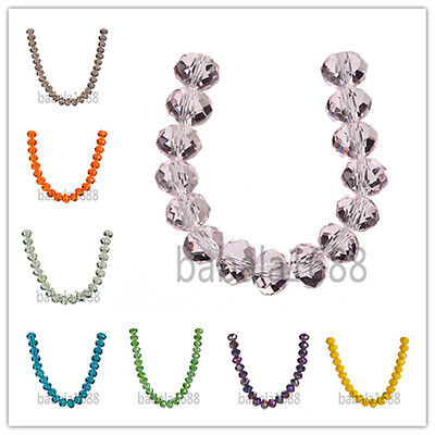 Wholesale 12mm Rondelle Faceted Crystal Glass Bead Loose Spacer Beads Findings