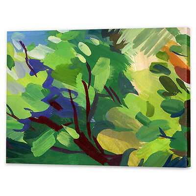 Green Abstract Leaves Canvas Art Print | Framed Ready to Hang Wall Prints