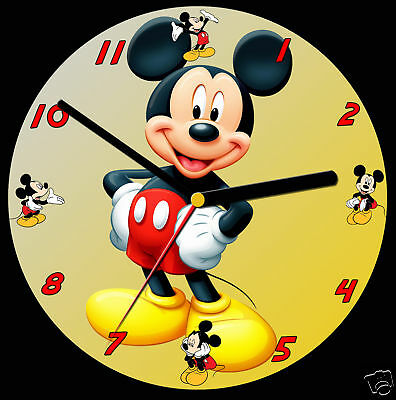 Mickey Mouse CD Clock, can be personalised