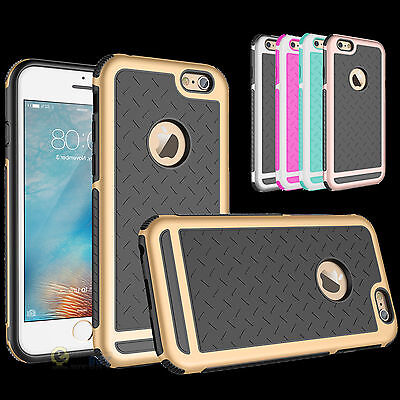 Shockproof Rubber Hybrid Fashion Hard Case Thin Cover for iPhone SE / 5S / 6/ 6S