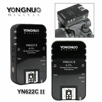 Yongnuo Updated YN-622C II TTL Wireless Flash Trigger kit 1/8000 for Canon