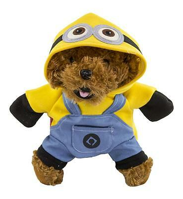New Cute Charming Minions Standing Pet Puppy Costume Clothing Dog Clothes Jacket