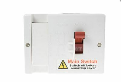 80A Fused Main Switched Isolator DP Single Phase Plastic (100A) With Fuse ME