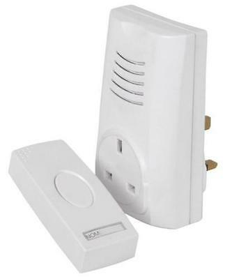 Cordless /Wireless Plug In /AC  Main Socket Door bell/ 16 Melody Chime 80m Range