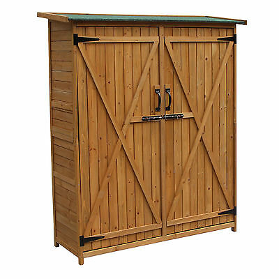 Wooden utility shed double door 1400x500x1620 mm fir wood tar roof