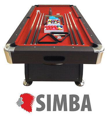 8 Ft Pool Table Billiard Playing Cloth Indoor Sports Game billiards table red
