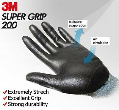 3M Super Grip 200 Work Gloves Safety Protective Gardening Assembly Mechanic