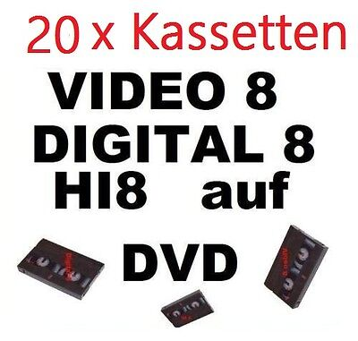 20 x VHS-C, Video 8, Hi8, MiniDV auf DVD digitalisieren