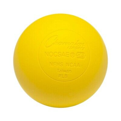 Champion Lacrosse Ball (x1) Official NFHS NCAA Mobility Massage Therapy-YELLOW