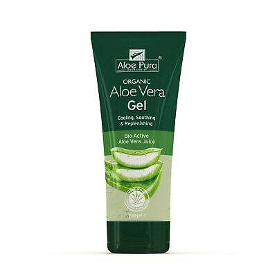 3 Packs of Aloe Pura Skin Treatment Aloe Vera Organic Gel 200ml - 600ml in total
