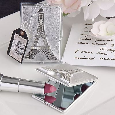 6 X Eiffel Tower Design Compact Mirror Wedding & Party Bag Filler Favours Gifts