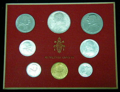 1968 Italy Vatican coins official set with silver UNC Paulus VI in official box