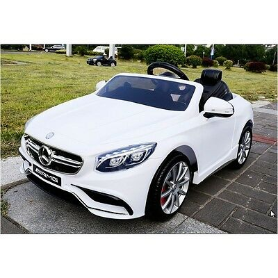 New Mercedes Benz S63 Amg Coupe Ride On 12V Electric Sports Car Coupe With Rc