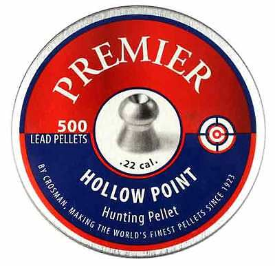 Crosman Premier Pellets - .177 & .22 - Domed Pointed Wadcutter Hollow Point