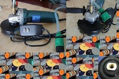 "Variable Speed Wet Polisher 4"" Polishing 9+1 Pad Granite Concrete Marble Stone"