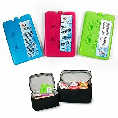 4 Pc 7oz Slim Ice Pack Reusable Cool Lunch Bag Pain Relief Food Drink Storage