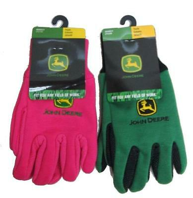 Youth John Deere Lightweight Work Gloves (Pink OR Green) - LP42386/88