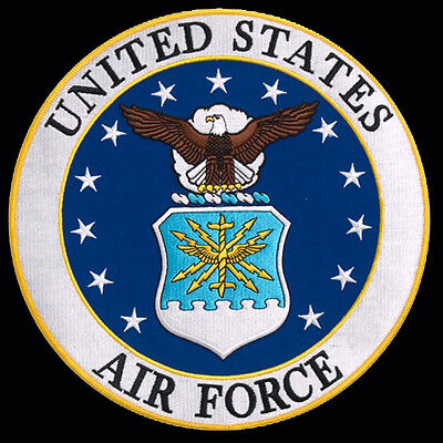 US Air Force logo  EMBROIDERED 3 inch IRON ON MILITARY PATCH BY MILTACUSA