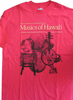Musics of Hawaii State Festival 1993 T-shirt L New Vintage