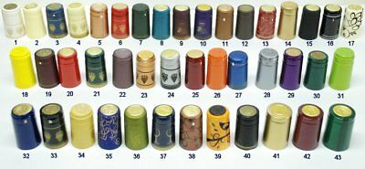 100 Shrink tops for wine bottle caps select your colour