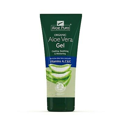 2 Packs of Aloe Pura Aloe Vera Organic Gel with Vitamins A C & E - 200ml