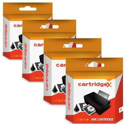 4 Black Compatible Ink Cartridges for Epson Stylus SX105 SX110 SX115 SX200 SX205