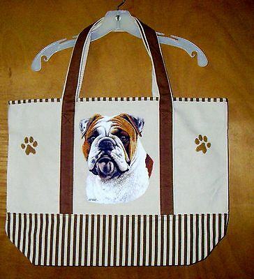 ENGLISH BULLDOG - 100% Cotton Canvas, heavy duty, X-Large TOTE BAG
