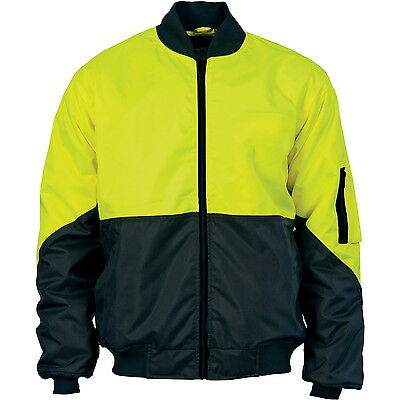 Hivis 2 Tone Day Bomber Jacket Dnc Work Wear 3761