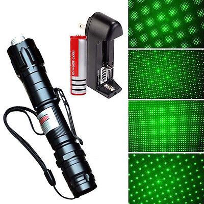 Powerful 5mW 532nm Green Laser Pointer Pen Lazer Beam Light With Battery/Charger