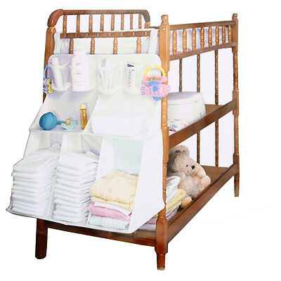 Baby Bed Crib Nursery Storage Organizer Bag Waterproof for Toy Diaper Clothes