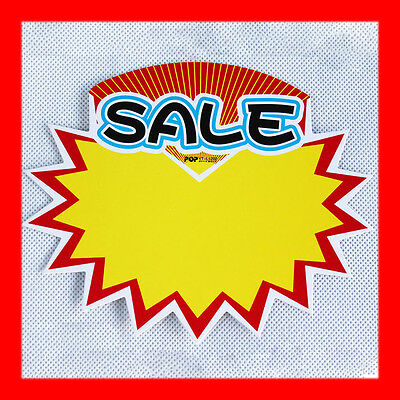 20x NEW Shop Price Sale Sign Advertising Pop Card