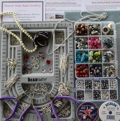 Deluxe Jewellery Making Kit *swarovski-Beads-Beadsmith Tools-Instructions