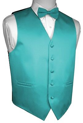 Boy's 2 - Men's 6XL. Teal Formal Dress Tuxedo Vest Set. Wedding, Prom