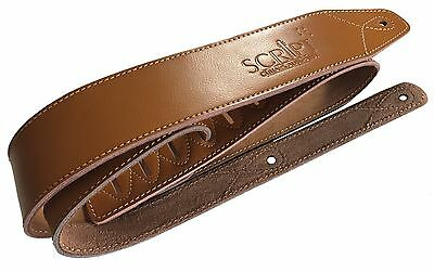 Classic Deluxe Soft Genuine Leather  Acoustic, Electric, Bass Guitar Strap
