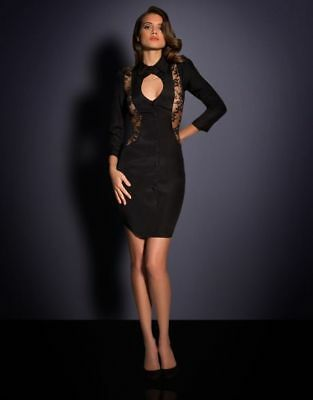 Agent Provocateur Black Erikka Dress Size Medium / Ap3 / 10-12 Rrp £595