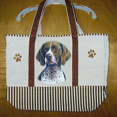 GERMAN SHORTHAIRED POINTER - 100% Cotton Canvas, heavy duty, X-Large TOTE BAG