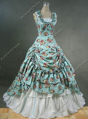 Southern Belle Ball Gown Victorian Dress Princess Theatre Reenactor Costume 081