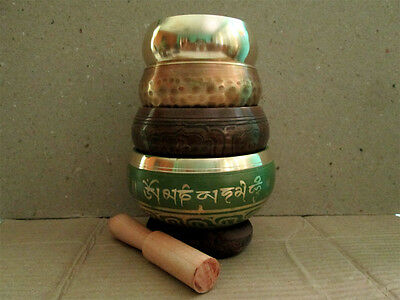 Set of 4 Tibetan Singing Bowls With Great Healing Sounds Form Nepal