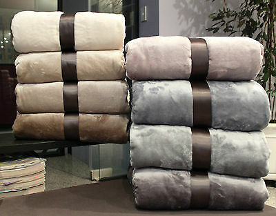 Flannel Coral Fleece DOUBLE QUEEN KING Bed Size Blanket 300gsm Soft and Warm NEW