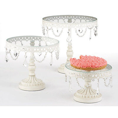 3 Piece White Cake Stands