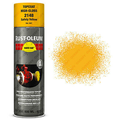 x7 Industrial Rust-Oleum Safety Yellow Spray Paint Hard Hat 500ml RAL 1007