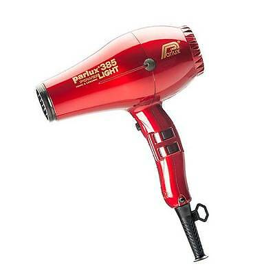 Parlux 385 Power Light Ionic And Ceramic Red Made in Italy