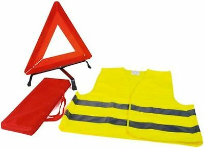 Kit De Securite Automobile Signalisation Gilet Fluo Triangle Danger Et Sacoche