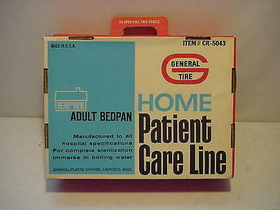 General Tire Home Patient Adult BedPan Original Box W/ Plastic pan CR-5043 NEW