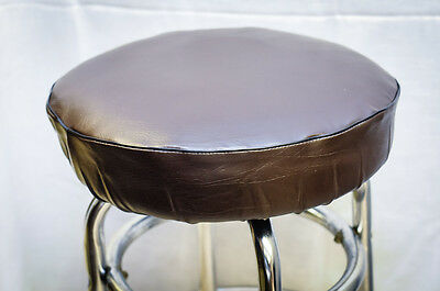 Super Bar Stool Slip On Seat Cover Vinyl With Foam Padded Brown Andrewgaddart Wooden Chair Designs For Living Room Andrewgaddartcom