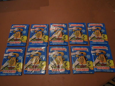 1987 Garbage Pail Kids GPK  10 unopened packs original series 14  priced 25c