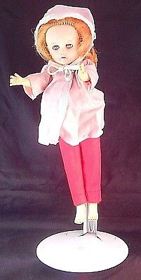 Vintage Miss Nancy Ann Doll Blonde Hair Complete Original Outfit With Free Stand