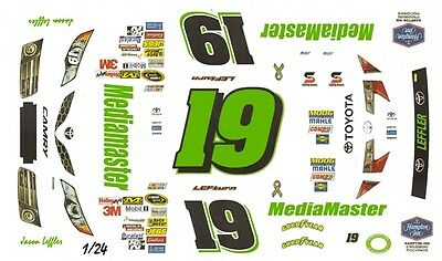 #19 Jason Leffler MediaMaster Toyota 2013 1/25th - 1/24th Scale Waterslide Decal